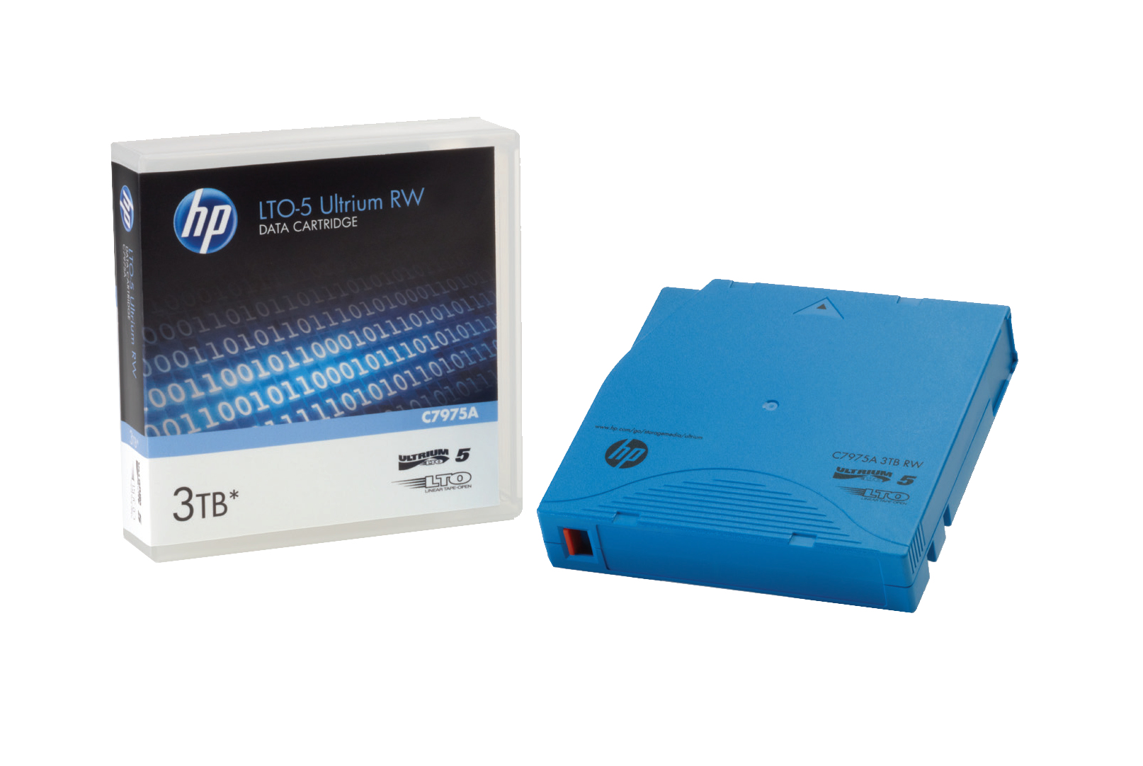 HP Ultrium RW Data Cartridge - LTO Ultrium 5 - 1.5 TB / 3 TB - Light Blue - Storage Media C7975A - C2000