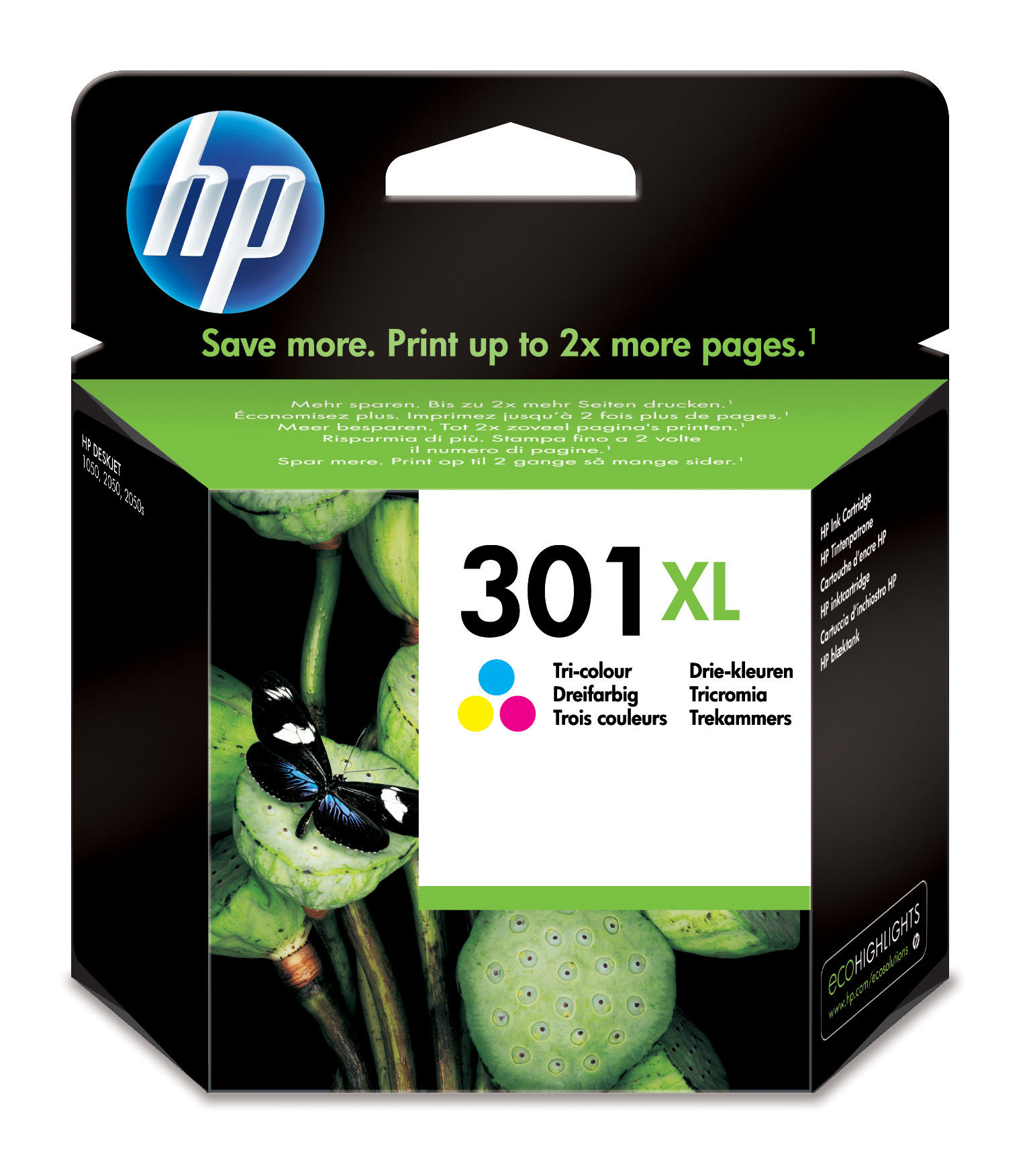 Hp - Inkjet Supply (pl1n) Mvs    301xl Tri-color Ink Cartridge       .                                   Ch564ee#uus