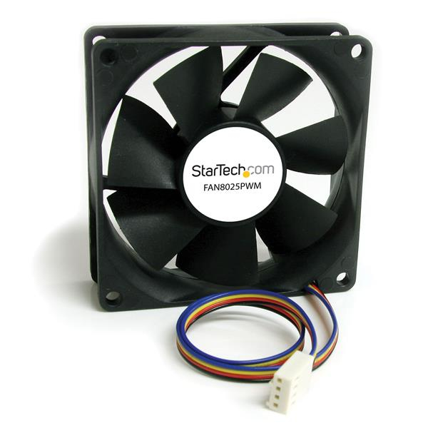Fan8025pwm Startech.com 80x25mm Computer Case Fan With Pwm - Pulse Width Modulation Connector - Ent01