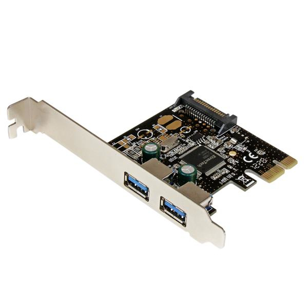 Pexusb3s23 Startech.com 2 Port Pci Express Pcie Superspeed Usb 3.0 Controller Card With Sata Power - Ent01