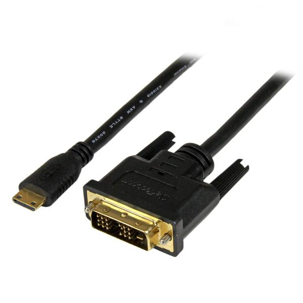 Startech.com - Cable             1m Mini Hdmi Male To Dvi-d          Male Cable 1920x1200 Video          Hdcdvimm1m