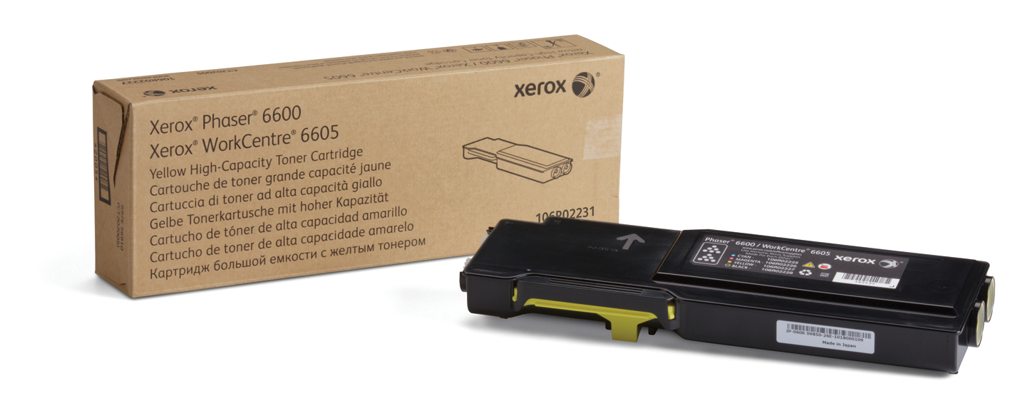 Xerox - Genuine Supplies         High Capacity Yellow                Toner Cartr Na (yield 6k)           106r02231