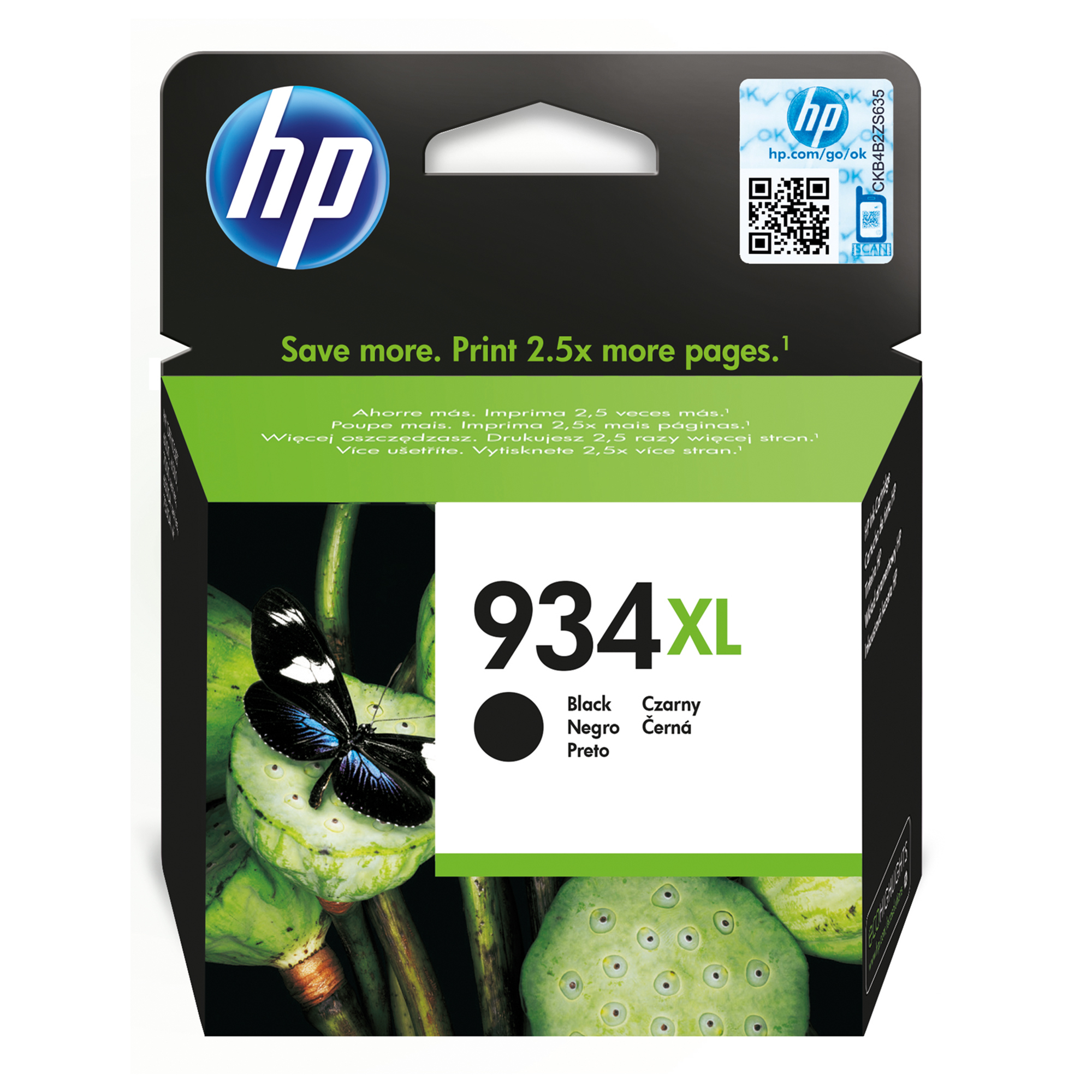 Hp - Inkjet Supply (pl1n) Mvs    Ink Cartridge No 934xl Black        Officejet De Uk Fr It Nl Se Be      C2p23ae#bgx