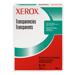 Xerox Transparency Plain For Colour A4, - 003R98205 - Xerox01